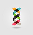 colorful dna ribbon logo sign symbol icon vector image