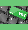 Computer keyboard key with agreement key - vector image vector image