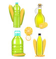 corn oil bottle bottle set realistic vector image vector image