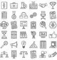 corporate governance training icons set outline vector image