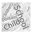 developmental after schoolprograms Word Cloud vector image vector image