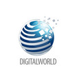 digital world sphere logo concept design three vector image vector image