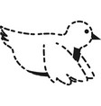 dove bird icon vector image vector image