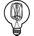 edison bulb vector image vector image