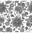 Ethnic seamless pattern with mandala paisley vector image vector image