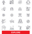 explore adventure discover expedition search vector image
