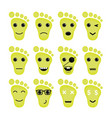 Feet Icon Logo Foot Icon Logo Funny Icon Logo Face vector image