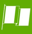 flag of ireland icon green vector image vector image