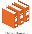 Folders with records Isometric vector image vector image