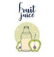 fruit juice card vector image