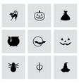 Halloween icon set vector image vector image