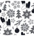 hand drawn christmas new year winter vector image vector image