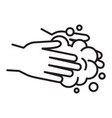 hands wash with soap icon isolate on white vector image