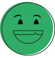 happy grin emoji instant messaging icon imag vector image