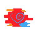 heart icon blue trendy modern concept vector image vector image