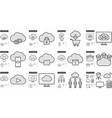 Hi-Tech line icon set vector image vector image