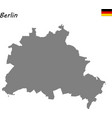 high quality map is a state germany vector image