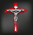jesus christ son god crucified on a vector image