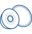 kiwi line icon concept kiwi flat symbol vector image vector image