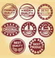 labels and rubber stamp vector image vector image