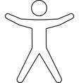 line pictogram man silhouette doing exercise vector image vector image