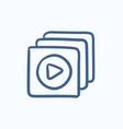 Media player sketch icon vector image vector image