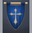 medieval vertical banner with crucifix wall vector image vector image