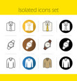 Mens accessories and clothes icons vector image