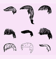 mens hairstyle vector image vector image