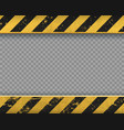 metal yellow plate with black stripes vector image
