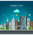 modern building and landmark smart city vector image vector image