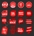 modern sale banners and labels collection 07 vector image vector image