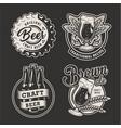 monochrome brewing badges set vector image