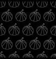 Monochrome Halloween Pattern vector image vector image