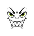 monster face cartoon icon gloat smiling vector image vector image