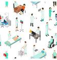 nurses attending patients seamless pattern vector image