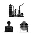 oil and gas icon set of vector image