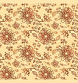 ornate doodle flowers seamless pattern vector image