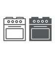 oven line and glyph icon home and appliance vector image vector image