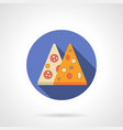 Pizza menu flat color design icon vector image