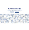 plumbing services banner design vector image