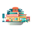 Restaurant building flat design vector image