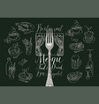 restaurant menu with sketches dishes and fork vector image