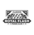 royal flash casino isolated label vector image vector image