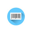 sample bar code for scanning icon on blue round vector image