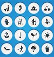 set of 16 editable garden icons includes symbols vector image vector image