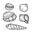 set of seafood icons vector image vector image