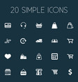 set of simple purchase icons vector image