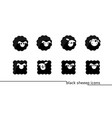 sheep icons vector image vector image