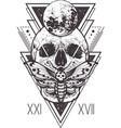skull sacred geometry design vector image vector image